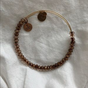 Alex & Ani Bracelet Bangle Brown Beads